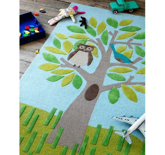 Kids Area Rug From Dwell Studio With Owl In Tree