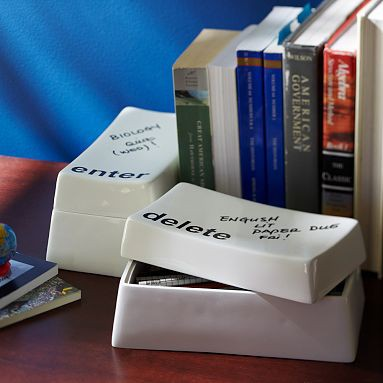 teen study desk accessories with delete button paperclip holder
