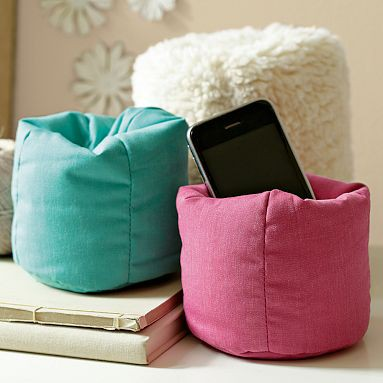 teen desk accessory with bean bag cell phone holder. Desk Accessories for Teens   Study Areas