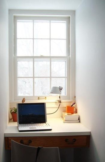 Study desks small bedrooms Study table facing window