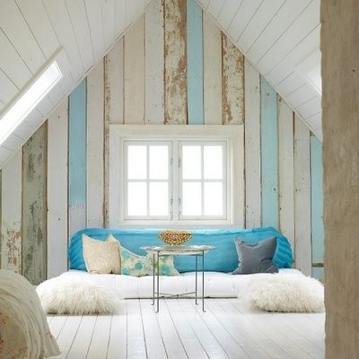 Kids 39 rooms painted wood floors vs durability - Attic bedroom design ideas with wooden flooring ...