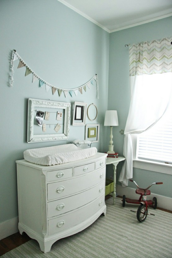 Vintage Baby Nursery Ideas With Heirloom Tricycle