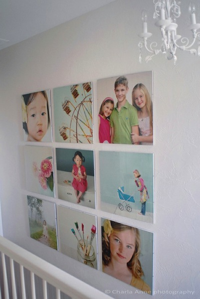 baby nursery artwork with family photo collage
