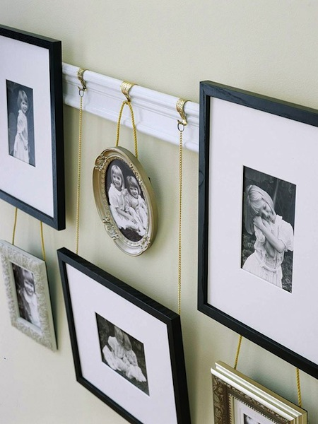 creative family photo ideas with picture rail