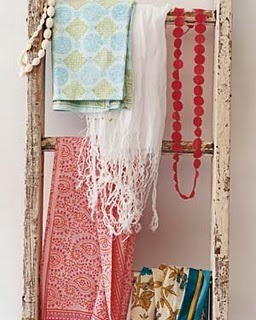 teen room accessory display idea with vintage ladder