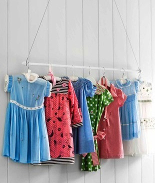 kids room display ideas for vintage clothing