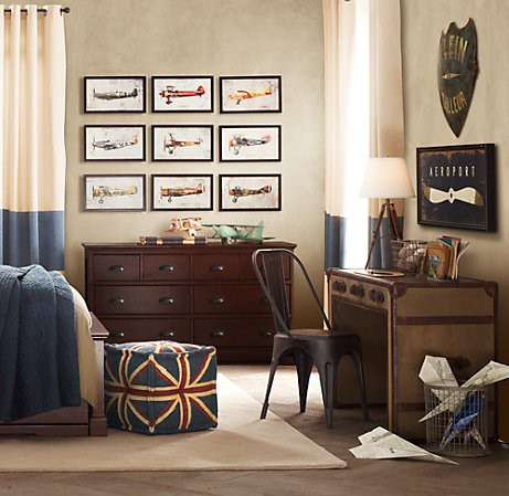 Boys 39 rooms return to vintage Vintage childrens room decor