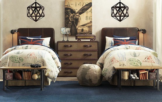 Boys' Rooms Return to Vintage