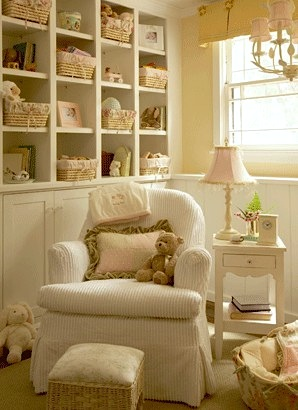 baby nursery storage ideas in vintage inspired baby nursery