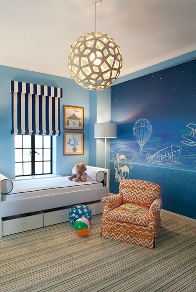Striped Carpet In Boys Bedroom Great Ideas