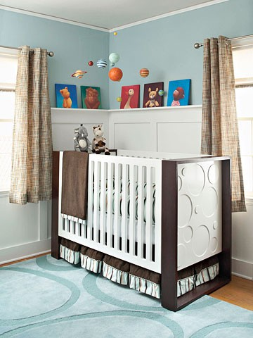 Baby Room  on Baby Nursery Floor Ideas With Circle Pattern Area Rug