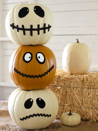 No Carve Painted Halloween Pumpkin Ideas
