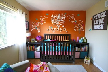 baby nursery with accessories within baby's reach unsafe