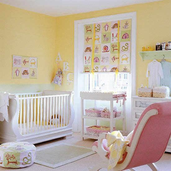 baby nursery ideas for pink and yellow color scheme