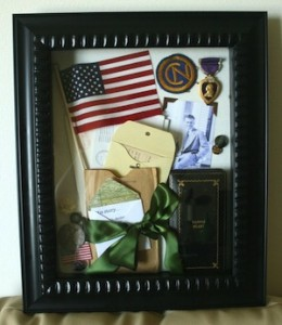 how to honor military service with memorabilia shadow box