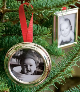 babys first christmas tree photo ornaments