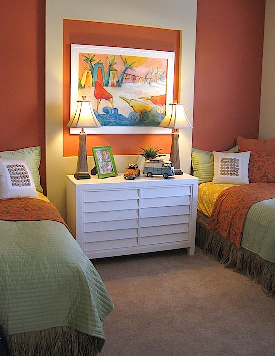 model home tour teen beach theme bedroom. Black Bedroom Furniture Sets. Home Design Ideas