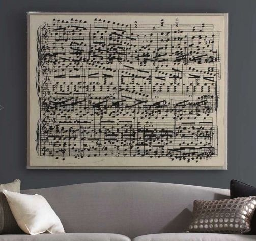 sheet music art for kids room design music lovers and vintage