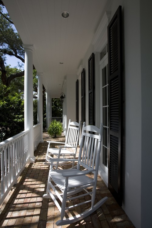 Rocking chair on porch like those used for kids room design