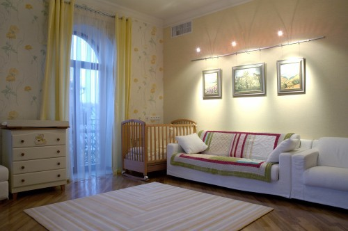 Design room for kids with art light over sofa in baby nursery & Properly Lighting a Kidu0027s Room | Part-2 azcodes.com
