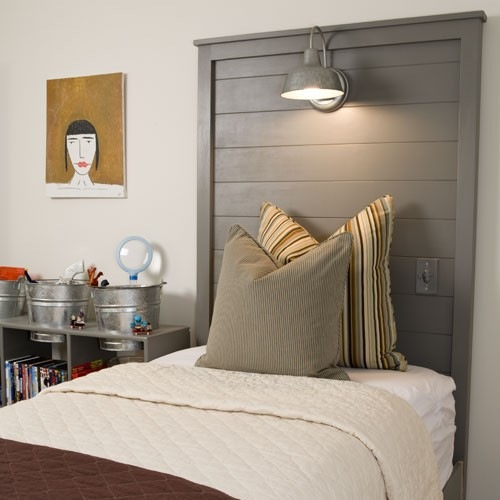 Diy Headboard With Reading Lamps Myideasbedroomcom
