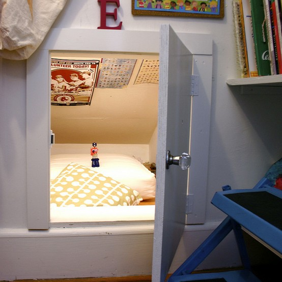 under eaves hideaway for kids room design