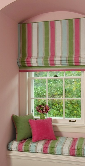 Energy efficient window treatments - Roman shades for kids room ...