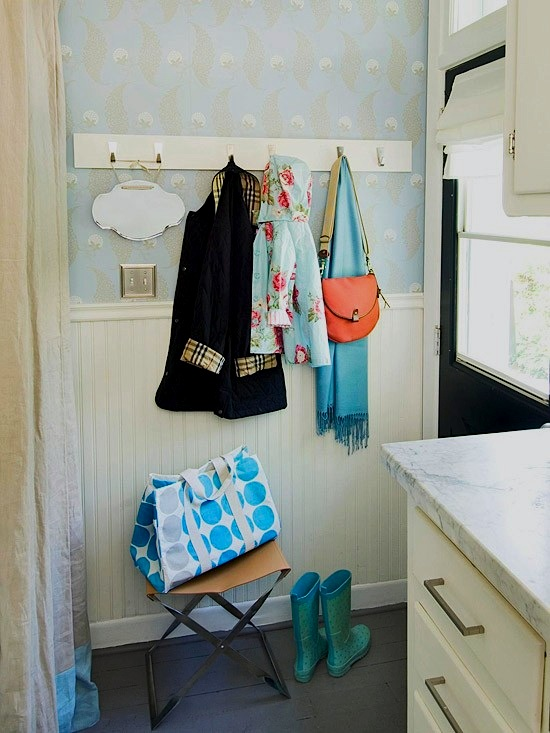 one wall mudroom design for kids room