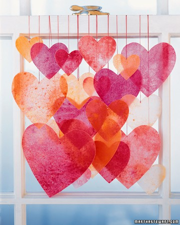 kids valentines crafts with tissue paper hearts