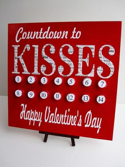 kids valentine craft with valentine countdown