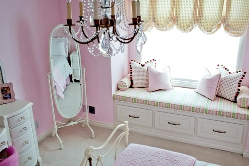 item girls decoration valance baby bed kids room canopy pink round net princess mosquito boys