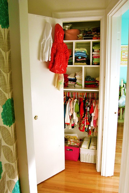Feb 19,  · Clever Closet for Kids Turn a closet into a mini dressing room by mounting a shelf with hooks for hats, coats, and collectibles and placing a small bookshelf underneath. On the door, a shoe organizer frees up floor space, while a miniature clothing rack makes it Author: Better Homes & Gardens.