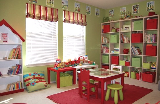 Design room for kids with Playroom storage