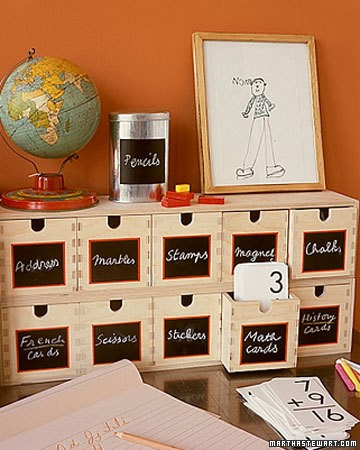 Small bins for small items in room design for kids