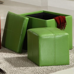 Storage ottoman in room design for kids