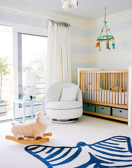 Design room for kids with Under crib storage