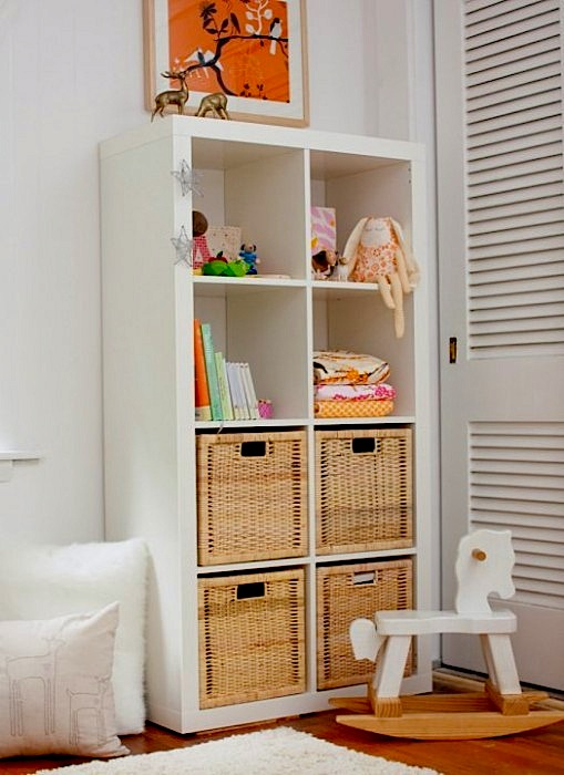 Design Room For Kids With Cubby Shelf Unit