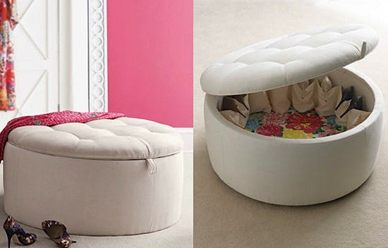 Toddler storage ideas with storage ottoman for shoes