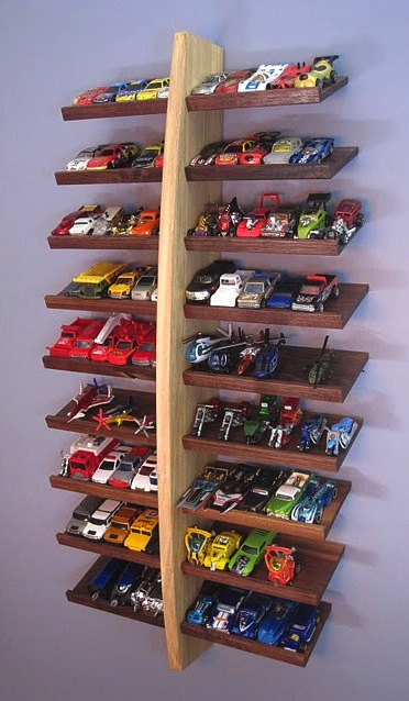 Design room for kids Hot Wheels car collection storage