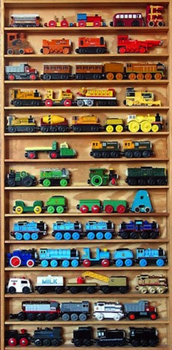 Design room for kids toy truck collection storage