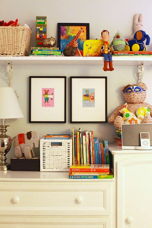 Design room for kids Vintage toy collection storage