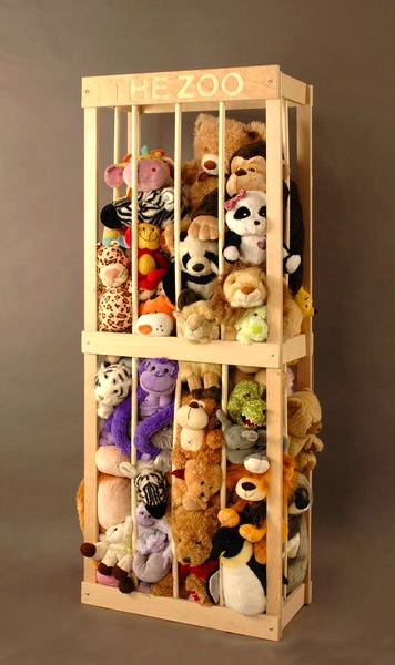 Design room for kids Stuffed animal storage