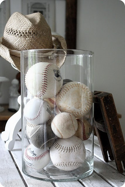 Design room for kids with Baseball collection storage