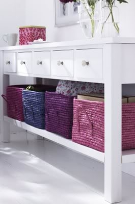 childrens room interior designer with rice basket storage on table shelf