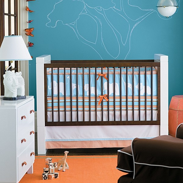 baby nursery ideas for contemporary style crib bedding