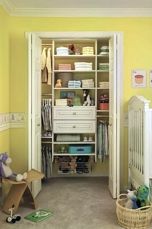 baby nursery ideas to store baby clothes