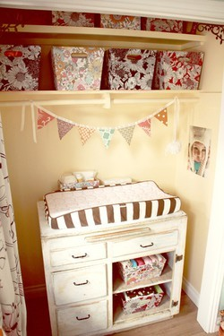 baby nursery ideas for changing table in nursery closet
