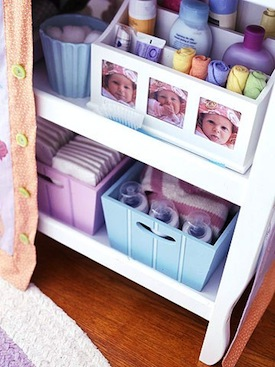 baby room ideas for storing baby bath items in nursery closet
