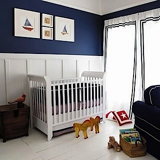 baby nursery ideas for wall paint and woodwork