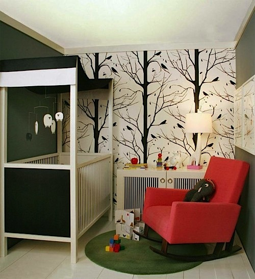 baby nursery ideas for wall mural
